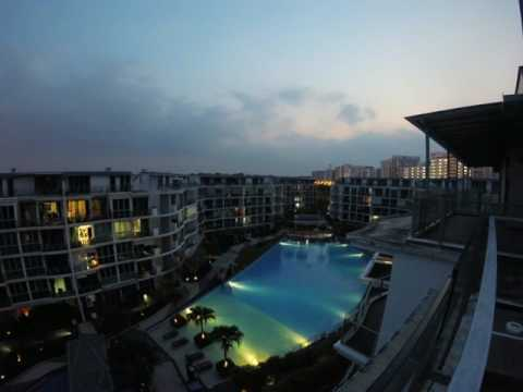 Sunset over Canberra Residences Singapore