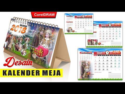 Desain Kalender Meja Tahun 2018 Dengan Coreldraw - Tutorial Coreldraw