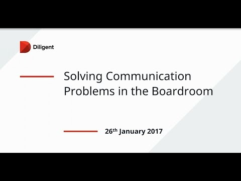 Solving Communication Problems In The Boardroom