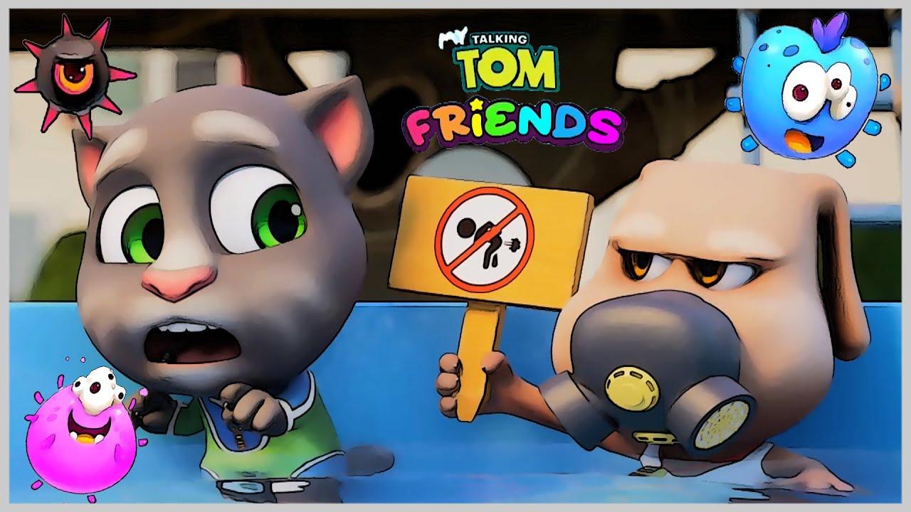 Говорящий Том Друзья битва с микробами Мини игры кролика Бекки а Анджелы Появление новых Героев