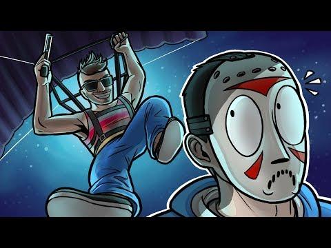 GTA 5 Funny Moments - Parachute Attack! (Dawn Raid Adversary Mode)