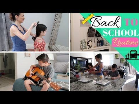 MORNING ROUTINE | BACK TO SCHOOL | STAY AT HOME MOM & KIDS ROUTINE | ROUTINE 2017