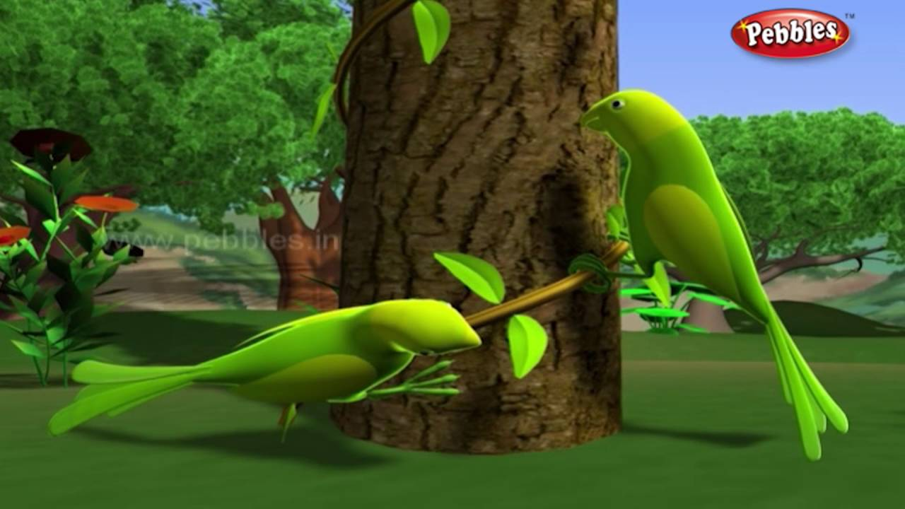 Lazy Parrots   हिंदी कहानी   3D Moral Stories For Kids in Hindi   Animal  Stories in Hindi