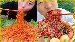 super spicy food eating noodles show collection 2 chinese food asmr mukbang