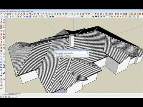 Tutorial Sketchup Instant Roof Creation Plugin Youtube