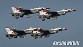 USAF Thunderbirds Practice Over Downtown Cleveland - Cleveland National Airshow 2015