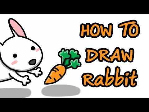 How to draw rabbit (วาดการ์ตูนระบายสีกระต่าย ง่ายๆ )