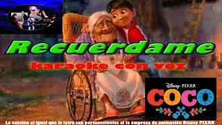 Recuérdame-COCO-(Karaoke con voz)