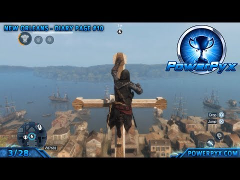 Assassin's Creed Liberation HD - All Diary Page Locations (Collector Trophy / Achievement Guide)