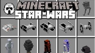 Minecraft STAR WARS DROID AND STARFIGHTERS MOD / THE FORCE AWAKENS!! Minecraft