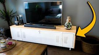 transformer vestiaire metallique en meuble tv