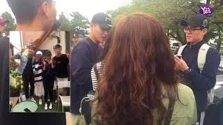 【2年前】姜河那入伍現場 展迷人微笑親切與粉絲道別