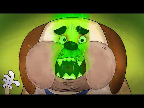 Funny Dog Cartoon - Dog Toothbrush Toy Superbrush