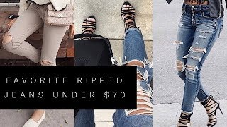 MY FAVORITE RIPPED JEANS UNDER $70 | DISTRESSED DENIM | Lina Noory