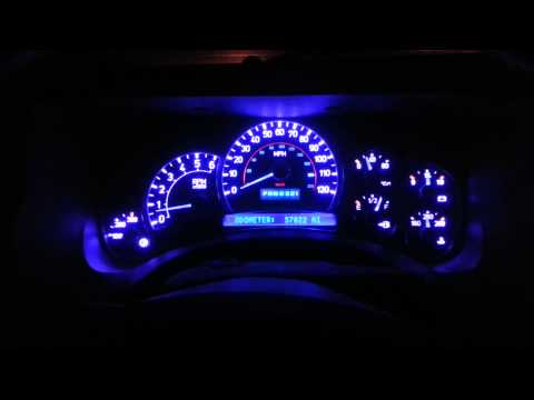 Hummer H2 instrument cluster repair & led conv.