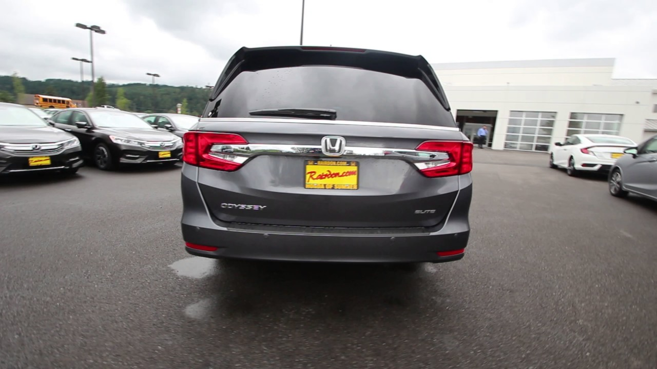 2018 Honda Odyssey Elite | Modern Steel Metallic | JB003490 | Seattle | Sumner | - YouTube
