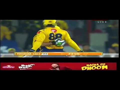 Darren Sammy Caption innings,PSL 3 match 10 Peshawar zalmi Vs Quetta gladiator