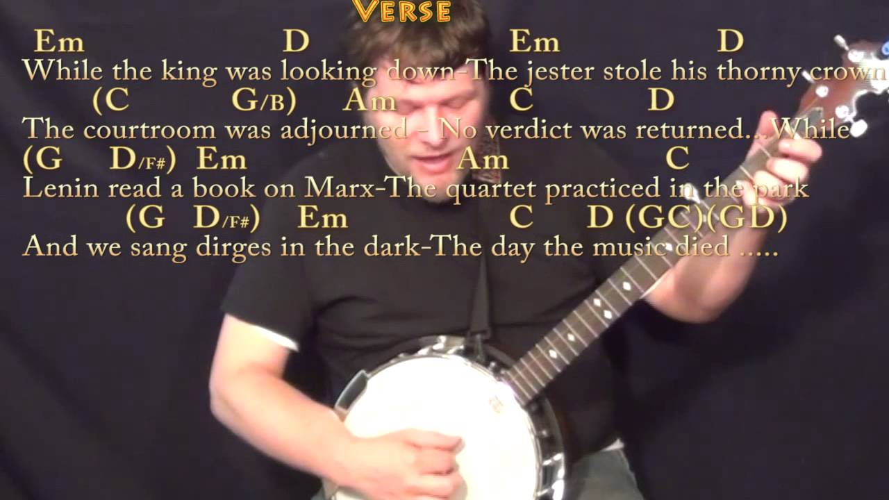 American pie don mclean banjo cover lesson with chordslyrics american pie don mclean banjo cover lesson with chordslyrics hexwebz Gallery