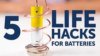 5 GENIUS life hacks for batteries l 5-MINUTE CRAFTS