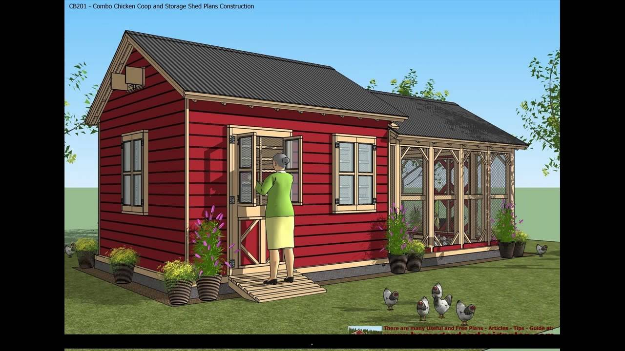 Shed plans 10x12 free youtube for Large garden buildings