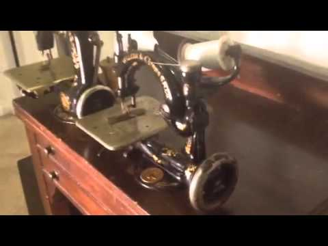 Comparing singer 24 and willcox&gibbs chainstitch sewing ma
