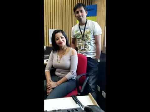 Actress Monalisa with Rj Animesh live on 91.9 Friends Fm kolkata