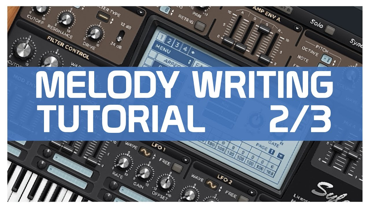 writing melodies If you listen to any of my tracks, you'll notice that i'm not very good at coming up with melodies many of my melodies are just pretty-sounding arps, which.