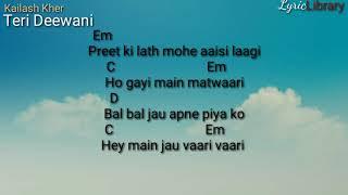 kailash-kher-teri-deewani-hindi-song-chords-and
