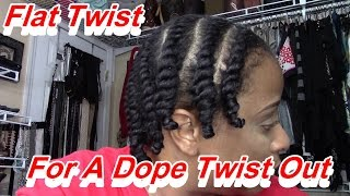 Flat Twist for a DOPE Twist Out Thumbnail
