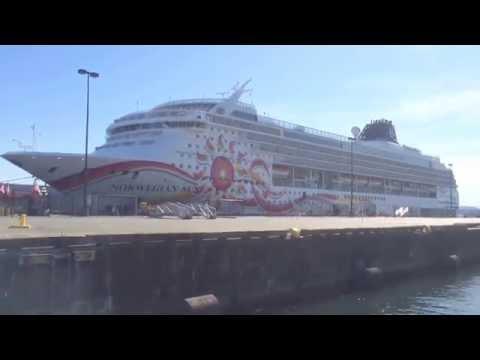 Alaskan Cruise Ship Norwegian Sun in Victoria BC Harbour 2015