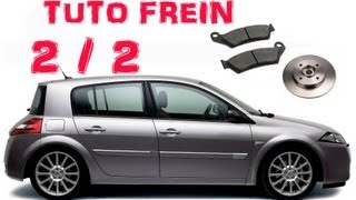 TUTO (2/2) changer plaquettes et disques arrières Mégane 2 (how to replace rear brake pads/discs)