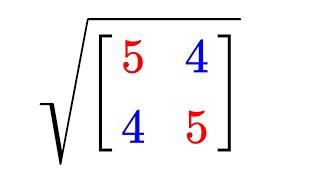 Square root of a matrix