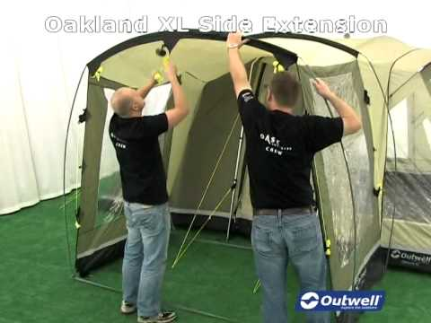 Outwell Oakland XL Side Extension & Outwell Oakland XL Side Extension - YouTube