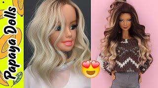 Barbie Doll Hair 👸 How To Make Barbie Hairstyles 💇 DIY Doll Hairstyles