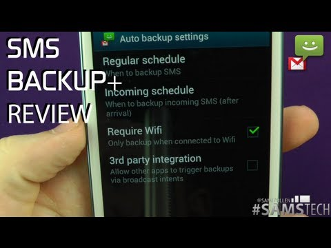SMS Backup+ Review Android App