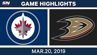 NHL Game Highlights   Jets vs. Ducks - March 20, 2019