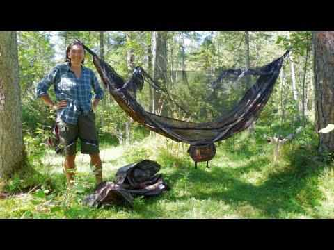 Bushcraft Goods Amazonas Forest Hammock and Unigear Waterproof Backpack