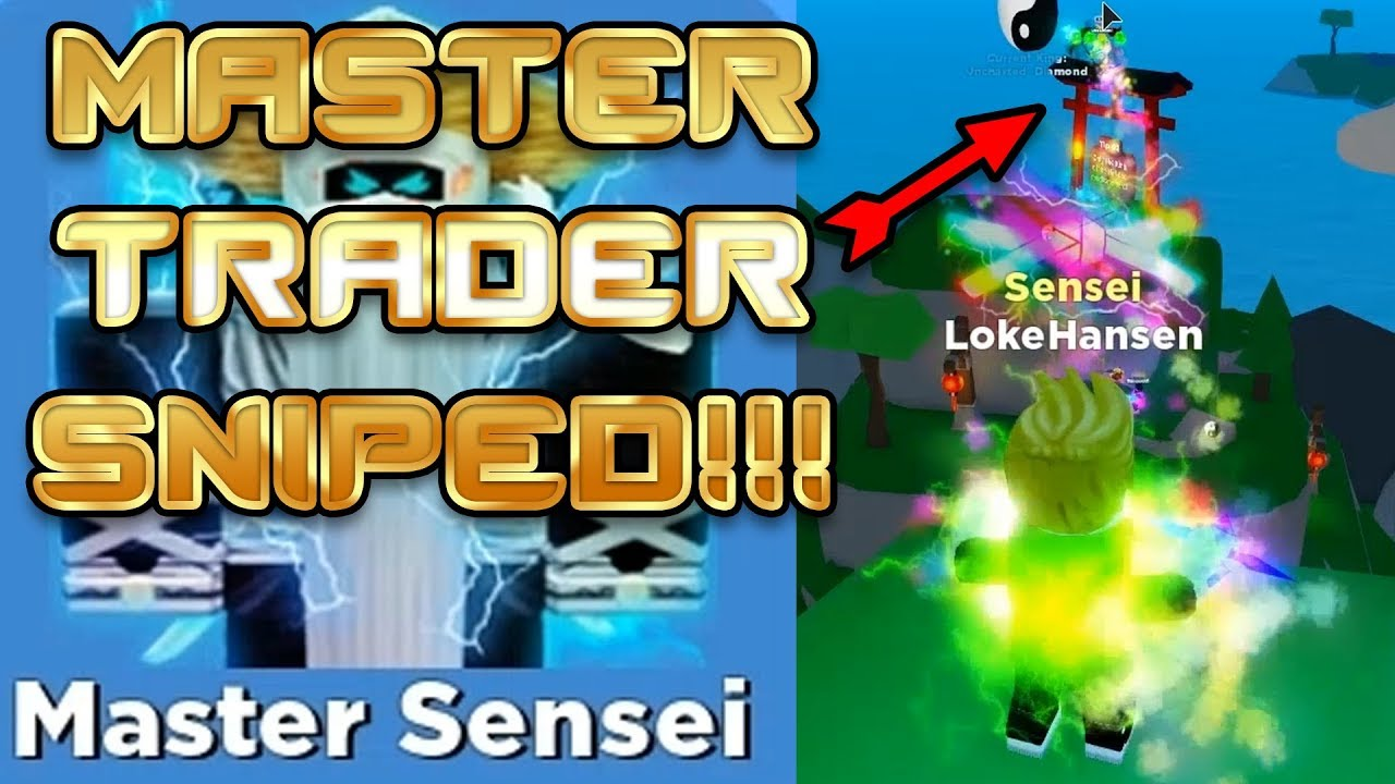 Sniped While Trading With Subs 100s Of Trades Master Sensei Upgrade Roblox Ninja Legends Youtube