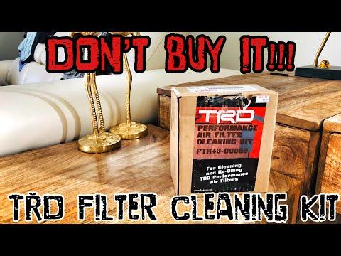 【30】 Don't buy TRD Oiled Air Filter Cleaning Kit!!! 2017 4Runner TRD PRO Cement [4K]