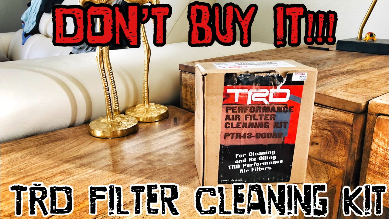 Genuine Toyota Trd Air Filter Cleaning Kit PTR43-00088