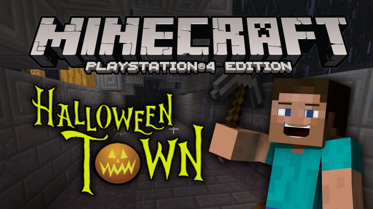 "Minecraft PS4 Edition: Halloween Town Build (""Playstation ..."
