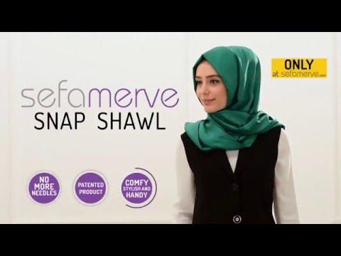 Sefamerve Snap Fastener Shawl & Scarf