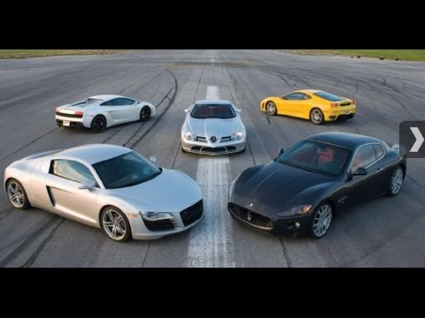 Тест скорости Maserati, Audi, Ferrari, Lamborghini, Mercedes McLaren