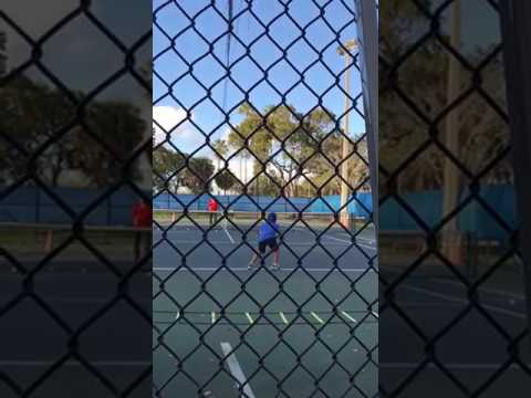 Hakan tennis with Andrei Kozlov