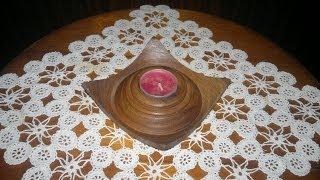 Woodturning Square Candle Holder квадратен свещник