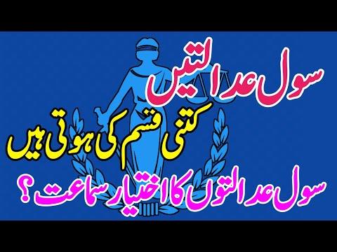 Classes of civil courts in pakistan ☆ orignal jurisdiction of district judge