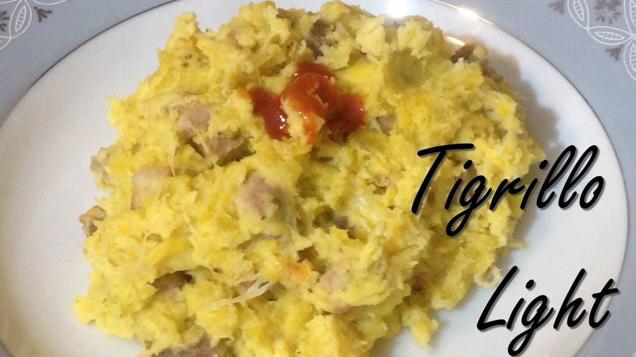 Recetas light faciles  Tigrillo receta con platano bajo