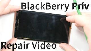 blackberry priv tear down screen repair battery replacement