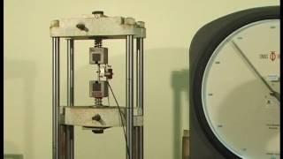 Steel Tensile Test using Tinius Olsen Universal Testing Machine
