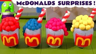 Mcdonalds Drive Thru Play Doh Milkshake Surprises With Funny Funlings Tt4u